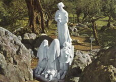 Shrine of the Fatima Children receiving Communion from the Angel at the Cabeco
